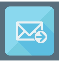 Mail icon envelope with arrow Flat design vector image