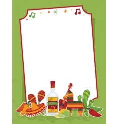 Mexican party sign vector image vector image