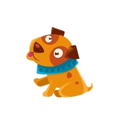 Silly puppy with the blue collar ready to go for a vector