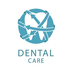 Dental logo shape tooth health care concept vector image vector image