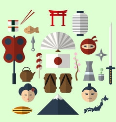 Flat Japan icon vector image