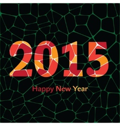 Happy New Year 2015 colorful greeting card made in vector image vector image
