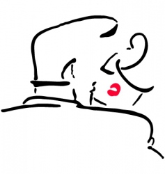 kissing men and women vector image
