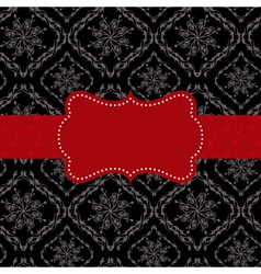 ornate frame on seamless pattern background vector image vector image