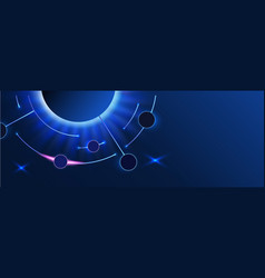 Abstract space banner earth and planets with vector