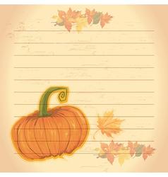 Autumn document template vector