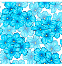 beautiful seamless pattern with blue flowers daisy vector image