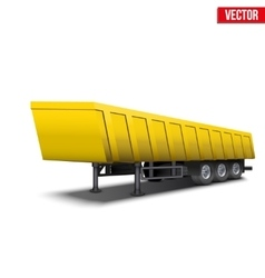 Blank parked yellow tipper semi trailer vector