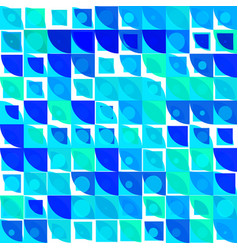 blue and green shades abstract rounded mosaic vector image