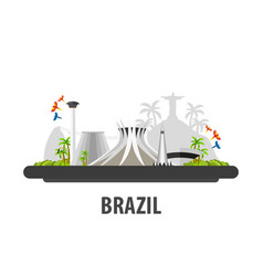 Brazil travel location vacation or trip and vector