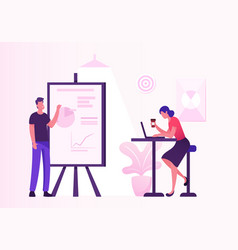 business meeting in creative office project vector image
