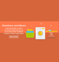 Cleanliness and tidiness banner horizontal concept vector