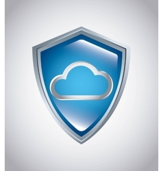 cloud computing service isolated icon vector image