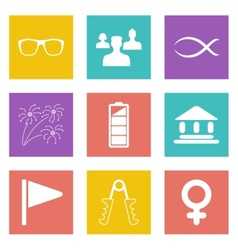 Color icons for Web Design set 33 vector image