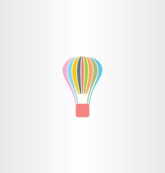 colorful parachute logo icon vector image