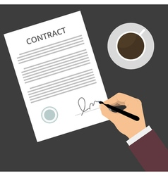 Contract Sign Up vector image