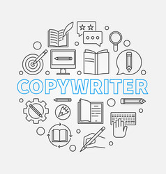 Copywriter round made with vector