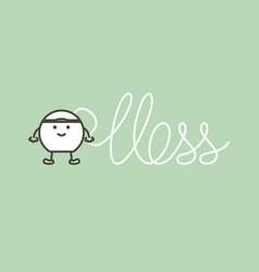 dental floss written floss word vector image