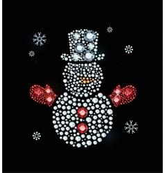 Diamond Snowman With Hat vector