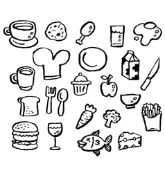 doodle series - food vector image vector image
