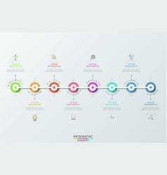 eight futuristic circular elements placed vector image