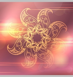 Ethnic ornament vector image