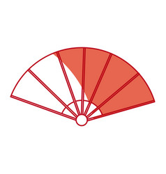 Fan folding japan accessory air asian vector