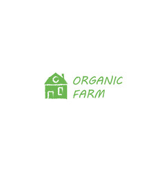 farm house concept logo full vector image