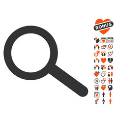 find icon with lovely bonus vector image