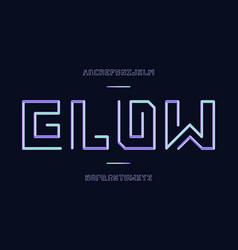Glow font alphabet vector