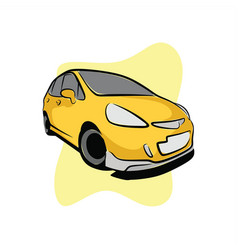 golden street city car vector image