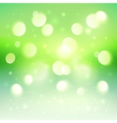 Green shining bokeh effect background vector