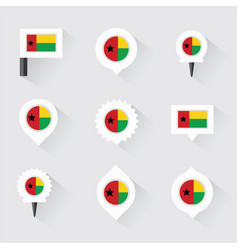 Guinea bissau flag and pins for infographic and vector