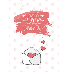 Hearts take off from inside open envelope vector