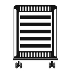 home oil radiator icon simple style vector image