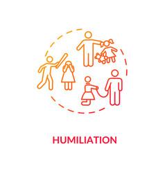 Humiliation concept icon vector