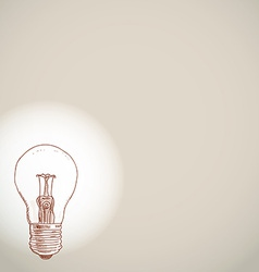 idea lightbulb sketch on white background banner vector image
