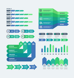 Infographic elements modern graphs investment vector