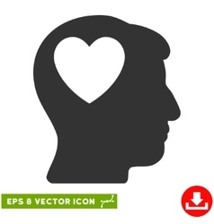 Love heart think eps icon vector