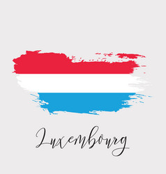 luxembourg watercolor national country flag icon vector image