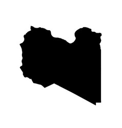 map libya isolated black on vector image