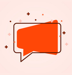 Modern chat bubble icon flat style social media vector