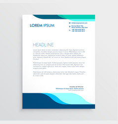 Modern letterhead design with clean blue shapes vector