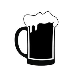 Mug beer black simple icon vector