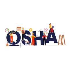 Occupational safety and health administration osha vector