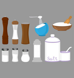 On theme big set different types shaker filled vector