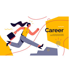 on theme career vector image