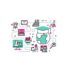 online degree vector image