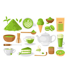 organic tea matcha for japanese ceremony vector image