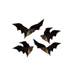 Origami flying bats vector